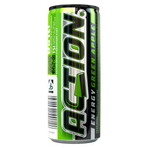 Action Energy Drink green Apple Dose