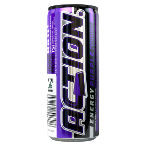 Action Energy Drink Purple Pomegranate & Blueberry Dose