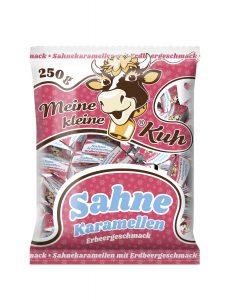Meine kleine Kuh Sahne Karamellen, Karamellbonbons in der Sorte Erdbeer Geschmack