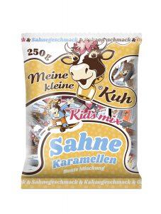 Meine kleine Kuh Sahne Karamellen bunte Mischung Mix für Kinder, Karamellbonbons in Sahne, Kakao, Erdbeer und Orange Geschmack