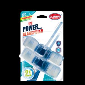 Clentin tri Power WC Erfrischer phosphatfrei mit anti-kalk, hygienische Sauberkeit, Ozean Frischeduft