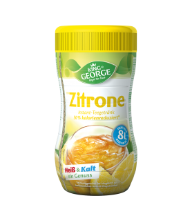 King George Instant Teegetränk 50 % weniger Kalorien Zitrone