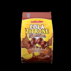 Louis Lecker Lutscher Cola Zitrone, Lollies, Süßigkeiten mit Cola und Zitronengeschmack
