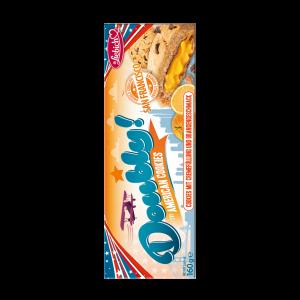 Liebich Doubly American Cookies, Kekse mit Schokostücken, Chocolate Chip Cookies mit Cremefüllung und Orangengeschmack, Snack
