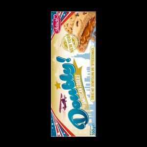 Liebich Doubly American Cookies Kekse mit Schokostücken, Chocolate Chip Cookies mit Cremefüllung und Toffeegeschmack, Snack