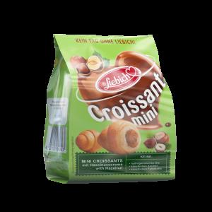 Liebich Mini Croissants Haselnuss gefüllt mit Haselnusscreme, Snack