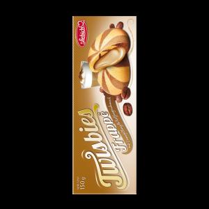 Liebich Twisbies Frappé Kekse mit Creme gefüllt und Kaffeegeschmack, Snack