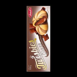 Liebich Twisbies Choco, Kekse mit Creme gefüllt und Schoko Geschmack, Snack