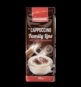Massimo Cappuccino Pulver Family Line mit Kakao