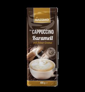 Massimo Cappuccino Pulver Karamell mit feiner Crema