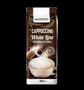 Massimo Cappuccino Pulver White Line mit feiner Crema