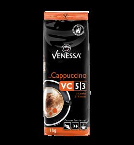 Venessa VC 5/3 Cappuccino mit 5% Kaffee und 2.7% Kakao im 1 Kilo Beutel