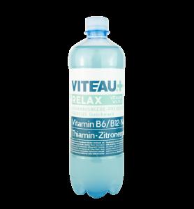 Viteau relax functional Water, Vitamin Water, Wasser angereichert mit Vitaminen und Mineralstoffen in Johannisbeere-Preiselbeere-Hibiscus Geschmack