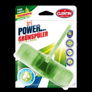 Clentin tri Power WC Erfrischer phosphatfrei mit anti-kalk, hygienische Sauberkeit, Pine Forest Frischeduft
