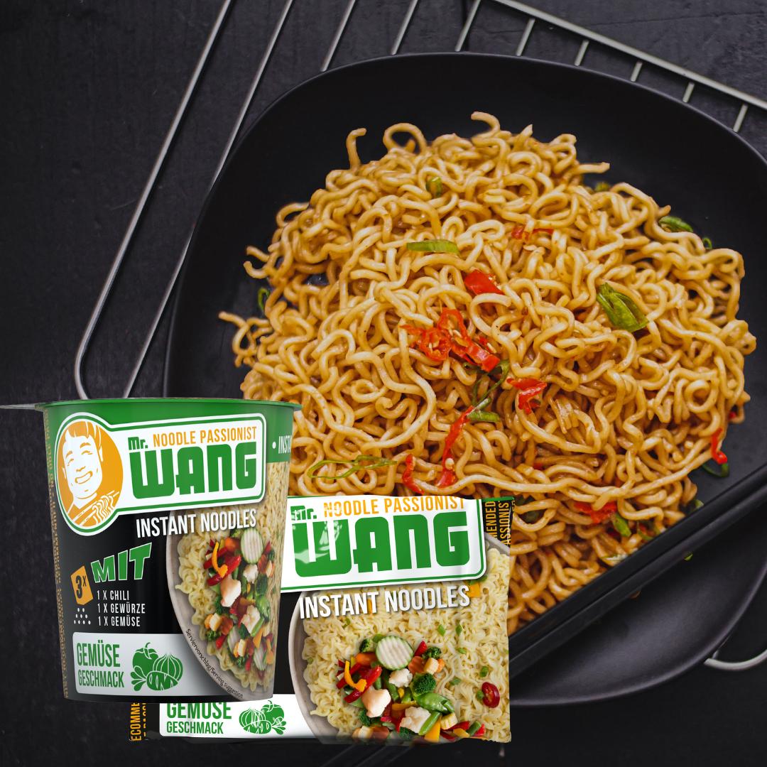 Jetzt neu: MR WANG Instantnudeln