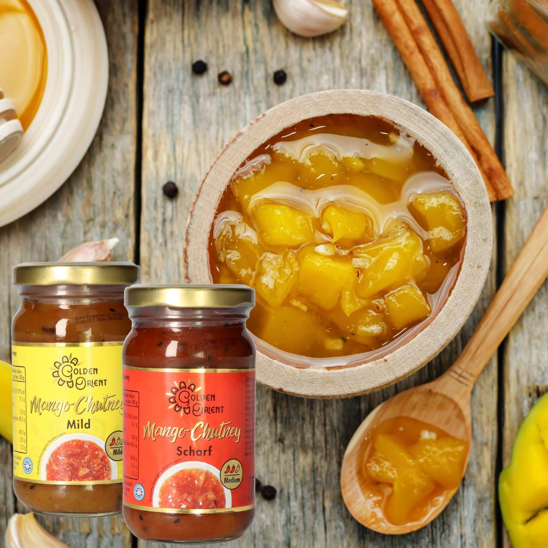 Jetzt neu: GOLDEN ORIENT Mango Chutneys